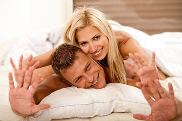 Couple enjoy loving
