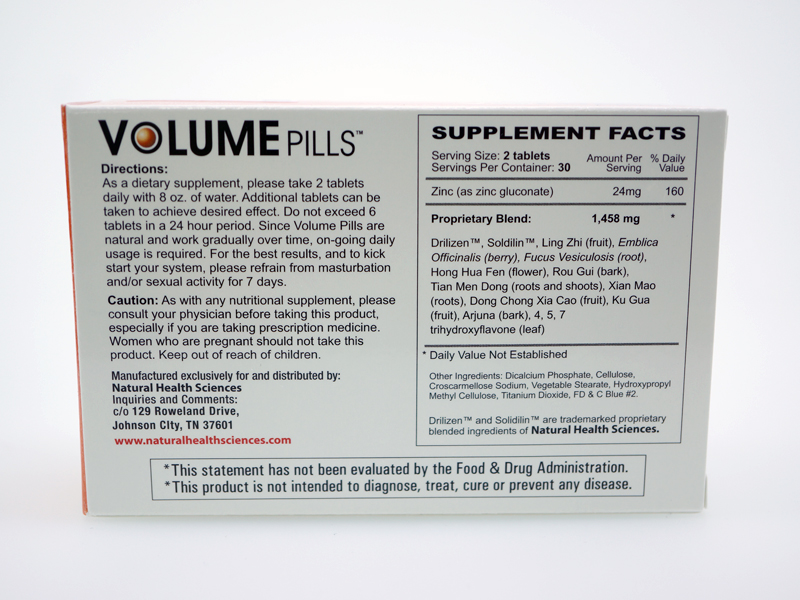 Ingredients of Volume pills